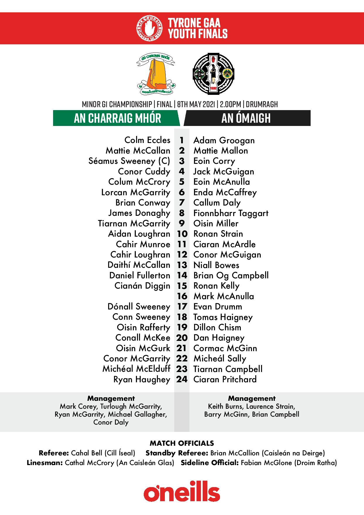 Tyrone GAA Youth Finals match programmes online