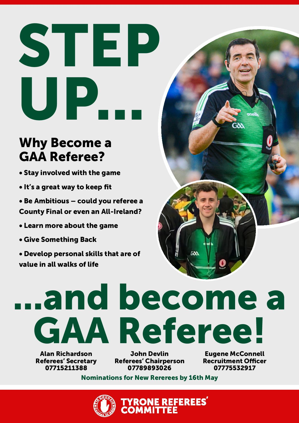 Call Goes out for More Referees, Clubs must play their part!